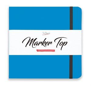 MarkerTop 20х20,  скетчбук для маркеров  (не пропитывается маркерами насквозь)/ MarkerTop 20х20 sketchbook for markers (not soaked through with markers) - фото 4888