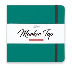 MarkerTop 20х20,  скетчбук для маркеров  (не пропитывается маркерами насквозь)/ MarkerTop 20х20 sketchbook for markers (not soaked through with markers) - фото 4889