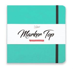 MarkerTop 20х20,  скетчбук для маркеров  (не пропитывается маркерами насквозь)/ MarkerTop 20х20 sketchbook for markers (not soaked through with markers) - фото 4890