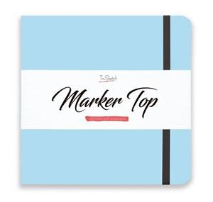 MarkerTop 20х20,  скетчбук для маркеров  (не пропитывается маркерами насквозь)/ MarkerTop 20х20 sketchbook for markers (not soaked through with markers) - фото 4891