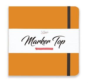 MarkerTop 20х20,  скетчбук для маркеров  (не пропитывается маркерами насквозь)/ MarkerTop 20х20 sketchbook for markers (not soaked through with markers) - фото 4893