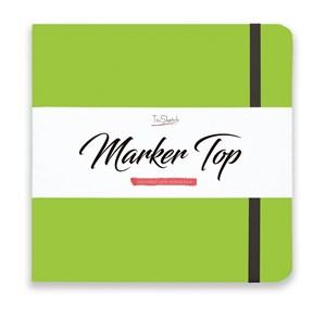 MarkerTop 20х20,  скетчбук для маркеров  (не пропитывается маркерами насквозь)/ MarkerTop 20х20 sketchbook for markers (not soaked through with markers) - фото 4895