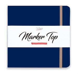 MarkerTop 20х20,  скетчбук для маркеров  (не пропитывается маркерами насквозь)/ MarkerTop 20х20 sketchbook for markers (not soaked through with markers) - фото 4897