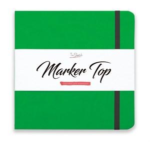 MarkerTop 20х20,  скетчбук для маркеров  (не пропитывается маркерами насквозь)/ MarkerTop 20х20 sketchbook for markers (not soaked through with markers) - фото 4898