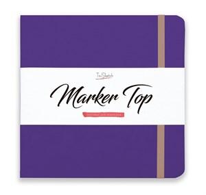 MarkerTop 20х20,  скетчбук для маркеров  (не пропитывается маркерами насквозь)/ MarkerTop 20х20 sketchbook for markers (not soaked through with markers) - фото 4899