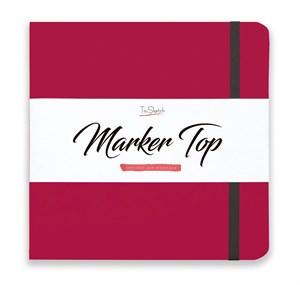 MarkerTop 20х20,  скетчбук для маркеров  (не пропитывается маркерами насквозь)/ MarkerTop 20х20 sketchbook for markers (not soaked through with markers) - фото 4900