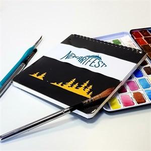 Aqua PAD 17х17, скетчбук для акварели, 25% хлопока / AquaSlim Pad 17х17, sketchbook for watercolor, 25% cotton - фото 4940