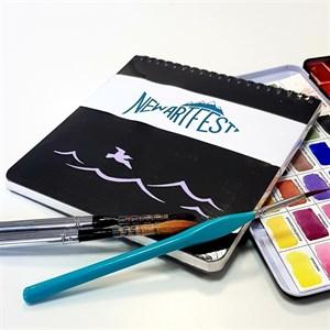 Aqua PAD 17х17, скетчбук для акварели, 25% хлопока / AquaSlim Pad 17х17, sketchbook for watercolor, 25% cotton - фото 4942