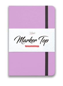 MarkerTop А5,  скетчбук для маркеров  (бумага не пропитывается маркерами насквозь)/ MarkerTop А5 sketchbook for markers (not soaked through with markers) - фото 5007