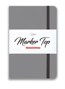 MarkerTop А5,  скетчбук для маркеров  (бумага не пропитывается маркерами насквозь)/ MarkerTop А5 sketchbook for markers (not soaked through with markers) - фото 5009