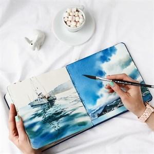 AquaTop 18x18, скетчбук для акварели, 100% хлопок/ AquaTop 18x18, sketchbook for watercolor,  100% cotton - фото 5030