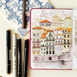 MarkerStArt А5, скетчбук для маркеров /MarkerStArt A5, sketchbook for markers - фото 5042