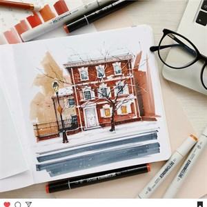 MarkerStArt 20х20, скетчбук для маркеров /MarkerStArt 20х20, sketchbook for markers - фото 5043