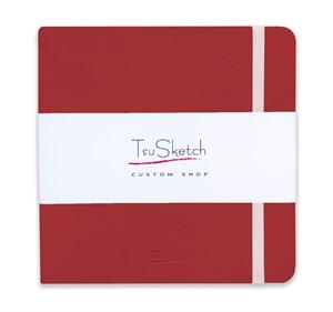 AquaSoft 17x17 , скетчбук для акварели, 25% хлопка , мягкая обложка из экокожи /AquaSoft 17x17, sketchbook for watercolor, 25% cotton, eco-leather - фото 5059