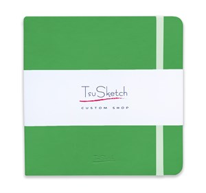 AquaSoft 17x17 , скетчбук для акварели, 25% хлопка , мягкая обложка из экокожи /AquaSoft 17x17, sketchbook for watercolor, 25% cotton, eco-leather - фото 5071
