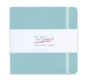 AquaSoft 17x17 , скетчбук для акварели, 25% хлопка , мягкая обложка из экокожи /AquaSoft 17x17, sketchbook for watercolor, 25% cotton, eco-leather - фото 5128