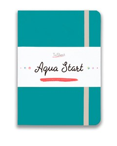 Aqua StArt A5, скетчбук для акварели,  25% хлопка / Aqua StArt A5 sketchbook for watercolor, 25% cotton