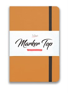 MarkerTop А5,  скетчбук для маркеров  (бумага не пропитывается маркерами насквозь)/ MarkerTop А5 sketchbook for markers (not soaked through with markers) - фото 5183