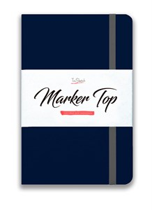 MarkerTop А5,  скетчбук для маркеров  (бумага не пропитывается маркерами насквозь)/ MarkerTop А5 sketchbook for markers (not soaked through with markers) - фото 5184