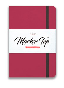 MarkerTop А5,  скетчбук для маркеров  (бумага не пропитывается маркерами насквозь)/ MarkerTop А5 sketchbook for markers (not soaked through with markers) - фото 5185