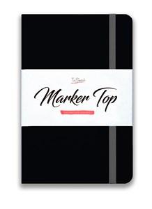 MarkerTop А5,  скетчбук для маркеров  (бумага не пропитывается маркерами насквозь)/ MarkerTop А5 sketchbook for markers (not soaked through with markers) - фото 5186