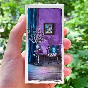 AquaBoYan, скетчбук-гармошка для миниатюр с бумагой 25% хлопка, фактурой FIN - фото 5213
