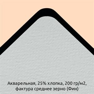 Блок Акварельный 25% хлопка, 200гр./м2 Фактура Среднее зерно (Фин) / Paper for Diskbook Watercolor, 25% cotton, 200g, Fin