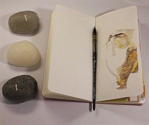 AquaSoft 10x20 , скетчбук для акварели, 25% хлопка , мягкая обложка из экокожи /AquaSoft 10x20, sketchbook for watercolor, 25% cotton, eco-leather - фото 5306