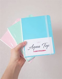 AquaSlimTop 17,5x13,5, скетчбук для акварели, мягкая обложка, 100% хлопок/ AquaSlimTop 17,5x13,5, sketchbook  for watercolor, soft cover, 100% cotton