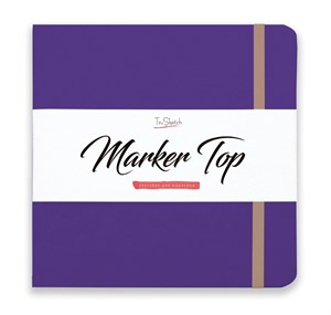 MarkerTop 17х17,  скетчбук для маркеров  (не пропитывается маркерами насквозь)/ MarkerTop 17х17 sketchbook for markers (not soaked through with markers)