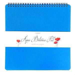 AquaBotanica Pad 23х23, скетчбук для акварели, 100% хлопок, фактура САТИН / AquaBotanica Pad 23х23, sketchbook for watercolor, 100% cotton, grain SATIN - фото 5721