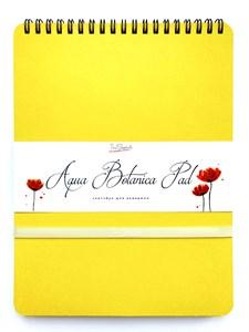 AquaBotanica Pad 17х22, скетчбук для акварели, 100% хлопок, фактура САТИН / AquaBotanica Pad 17х22, sketchbook for watercolor, 100% cotton, grain SATIN