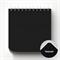Скетчбук BlackPad на пружине с черной бумагой 15x15 - фото 5742